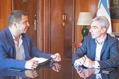 El Ministro de Transporte Mario Meoni recibió a Nicolás Rodríguez Saá
