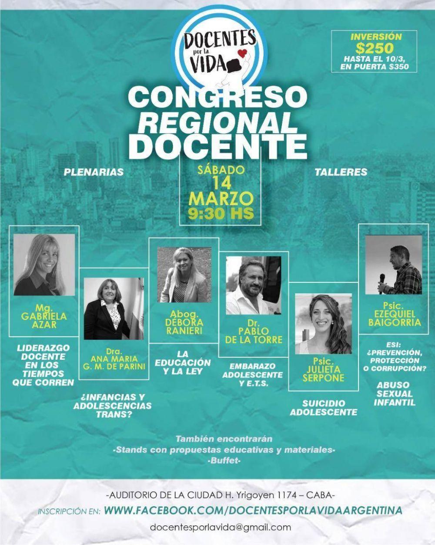 Primer Congreso Regional de Docentes por la Vida