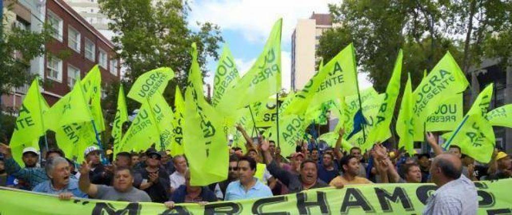 La UOCRA se movilizó al Municipio y reclamó por obras públicas