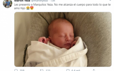 Pinamar: el intendente Yeza fue papá y presentó a su bebé en redes sociales