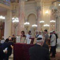 La sinagoga de Alejandría acoge las oraciones judías más grandes de Egipto en décadas