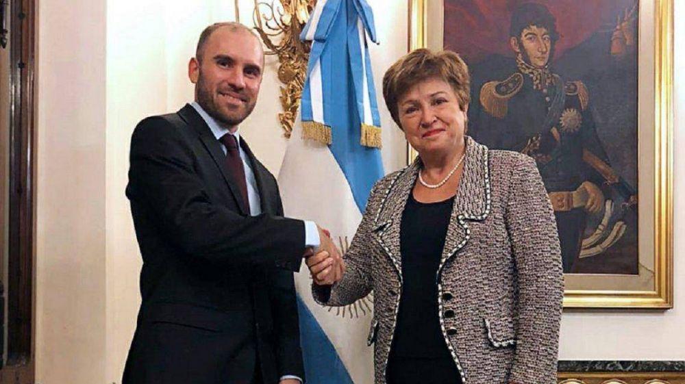 Tras el respaldo del FMI al Gobierno, Guzmán se reúne con Georgieva y el secretario del Tesoro de EEUU en el G20