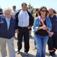 El Nobel de la Paz Pérez Esquivel y el Obispo Gabriel Mestre recorrieron el basural de Mar del Plata