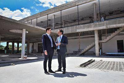 Ariel Sujarchuk y Nicolás Trotta, recorrieron el colegio Cereijo y el Polo de Educación Superior