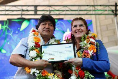 Evo Morales fué declarado Visitante Ilustre de Moreno