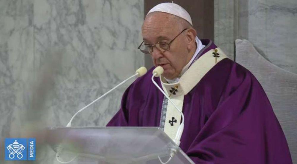 Homilía del Papa Francisco en la Misa del Miércoles de Ceniza 2020