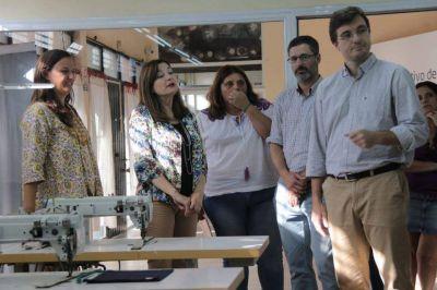 Lucas Ghi y Estela Díaz recorrieron el Polo Productivo de la Economía Social de Morón