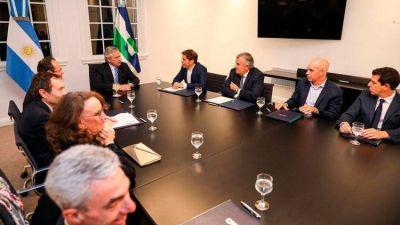 Alberto Fernández recibió a Axel Kicillof, Rodríguez Larreta y Gerardo Morales para anunciar un crédito de la CAF por USD 2.400 millones para obras de infraestructura