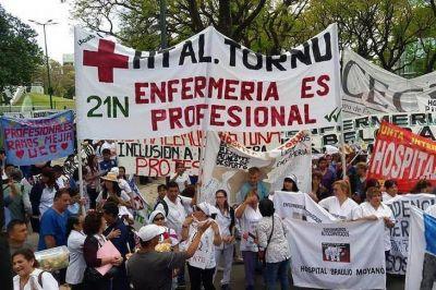 Nueva movilización de enfermeras y enfermeros de hospitales porteños