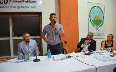 Apertura de sesiones en General Rodríguez, con el intendente García y varios temas en agenda