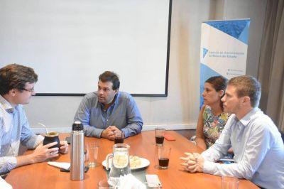 Lucas Ghi se reunió con Augusto Costa y las autoridades de la AABE por la ampliación del Parque Industrial La Cantábrica