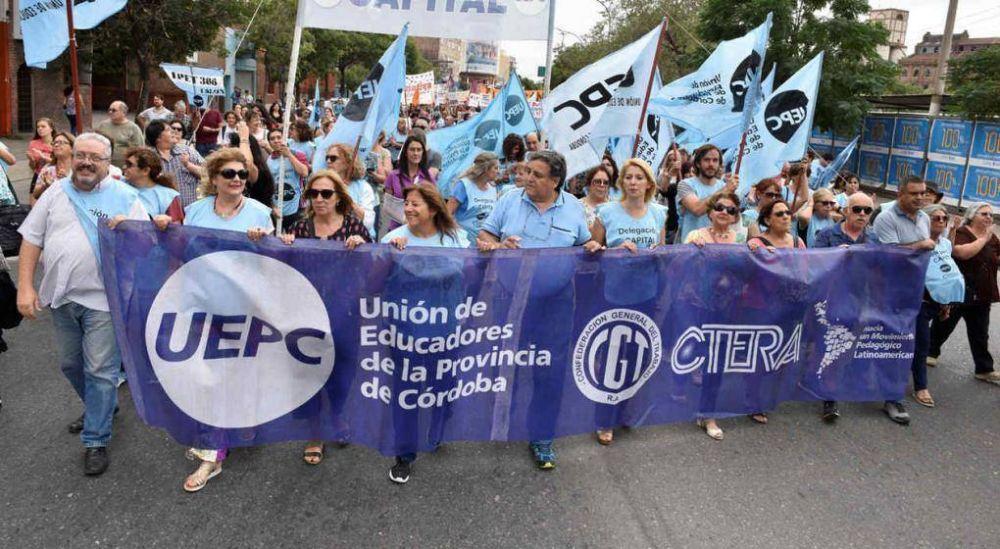 Docentes cordobeses definirán el viernes si aceptan la nueva propuesta salarial y cierran el conflicto