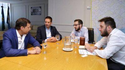 De Jesús y Cardozo se reunieron con el ministro de Infraestructura