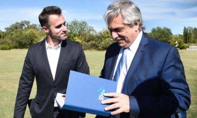 El intendente Federico Achával recibió al Presidente Alberto Fernández