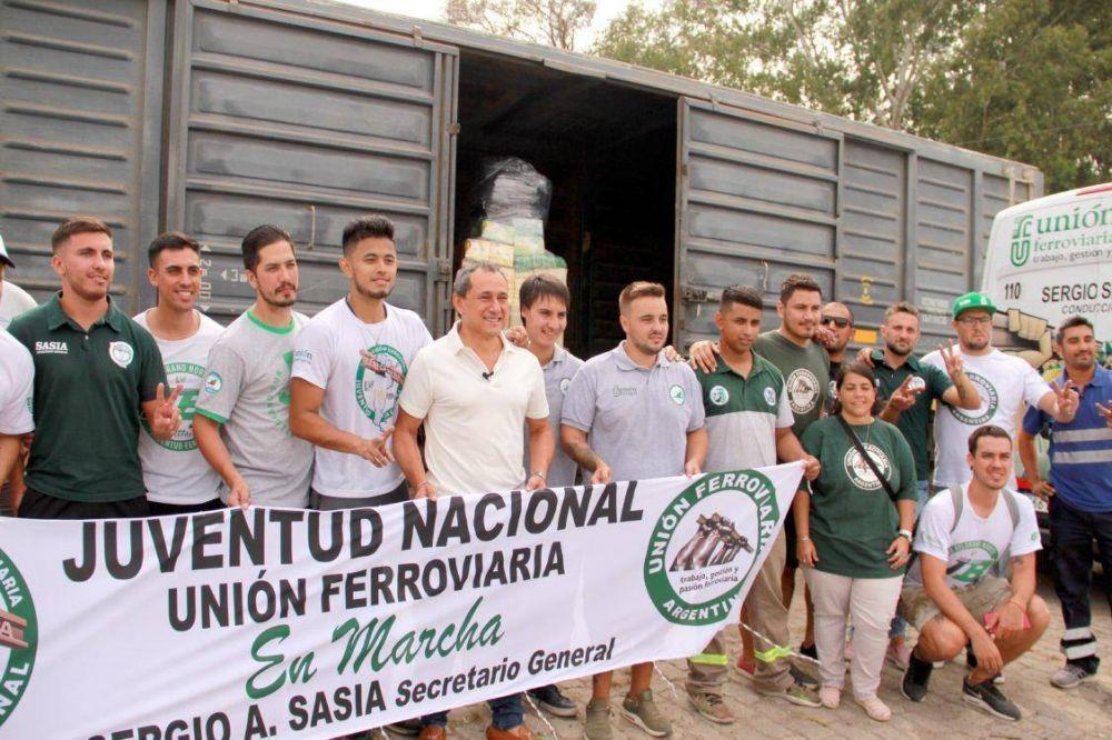 Video: La Unión Ferroviaria envió un tren lleno de donaciones a San Cristobal