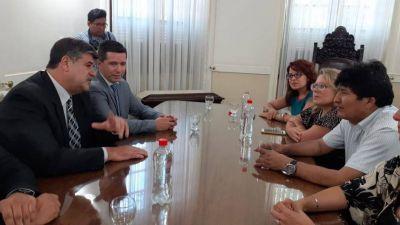El vicegobernador del radical Suárez recibió a Evo Morales en Mendoza