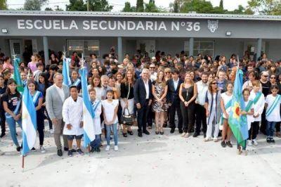 Tigre inauguró la Escuela Secundaria N°36 en el barrio El Prado de Benavídez