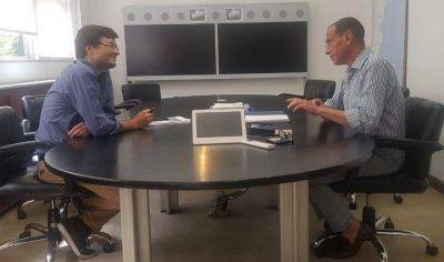 Morón | Ghi se reunió con Arrieta en la sede de Vialidad Nacional