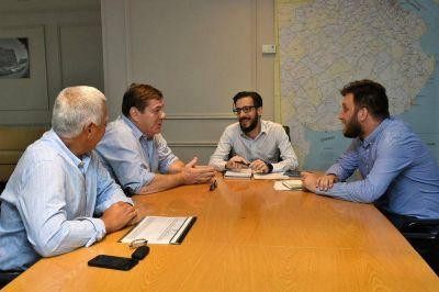 Plan de asfalto, bacheo y obras hidráulicas: ejes de la reunión entre Simone y Montenegro