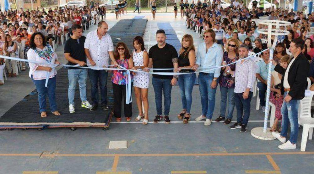 Inauguración del tinglado en el CEF