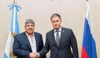 Pablo Moyano se reunió con embajador ruso y sueña con visitar este año a Vladimir Putin