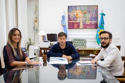 Malena Galmarini se reunió con Kicillof y Simone