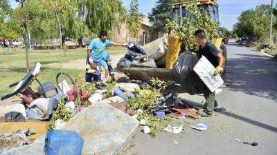 En Gran Neuquén Sur, los vecinos sacan la basura a la puerta