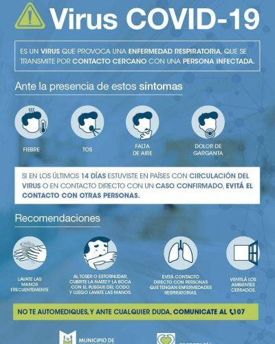 Malvinas Argentinas aplica el protocolo contra el virus COVID-19