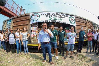 La Unión Ferroviaria desembarcó en Santa Fe para recorrer talleres, escuelas técnicas y entregar donaciones
