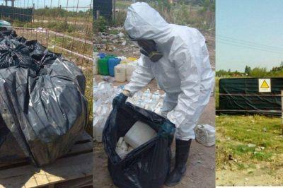 Pueblo Belgrano solicitó a Provincia que traslade los bidones de agroquímicos que arrojaron en el basural