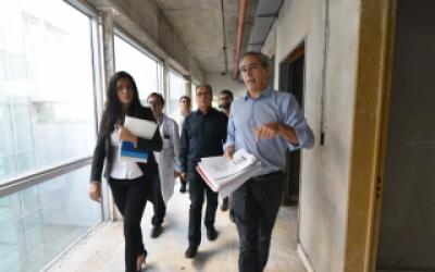 Titular de Pami relevó obras inconclusas en hospital de Ituzaingó y se interiorizó del protocolo contra el coronavirus