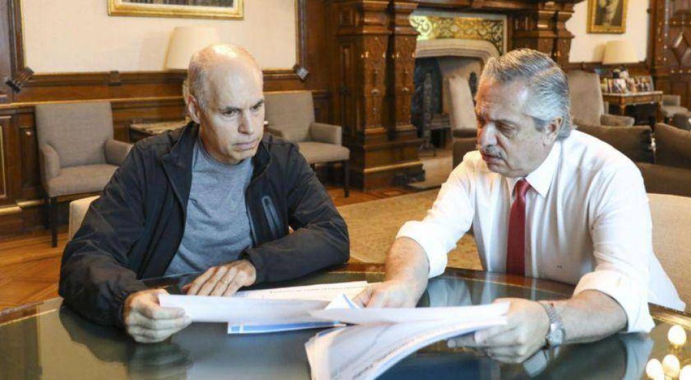 Alberto Fernández y Rodríguez Larreta analizaron las medidas contra el coronavirus