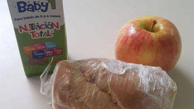 La Ciudad envía sandwiches de jamón y queso en las viandas de primera infancia