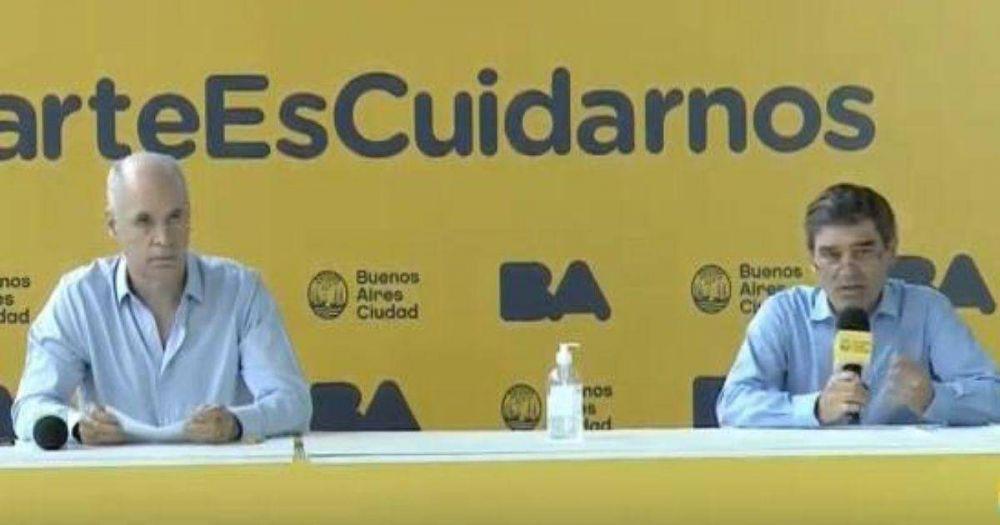 Rodríguez Larreta y su equipo de Salud: