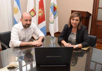 Fuentes y Mirolo mantuvieron una video conferencia con el viceministro de Ambiente
