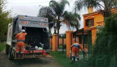 Desinfección en las calles y recolección de basura, normal