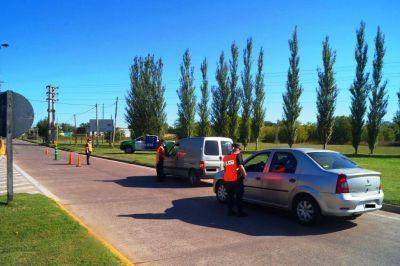 Importantes operativos de controles en tres accesos a la ciudad
