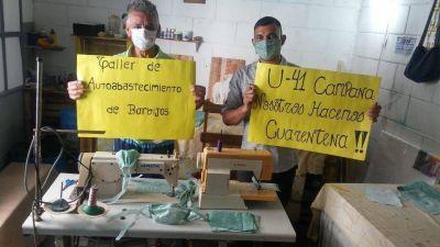 Presos de La Plata fabricarán más de mil barbijos diarios para prevenir el coronavirus