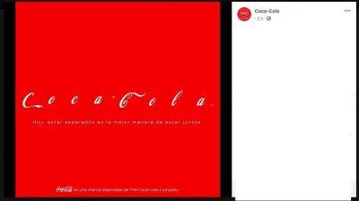 Coca-Cola activa campaña contra coronavirus y así luce su logo
