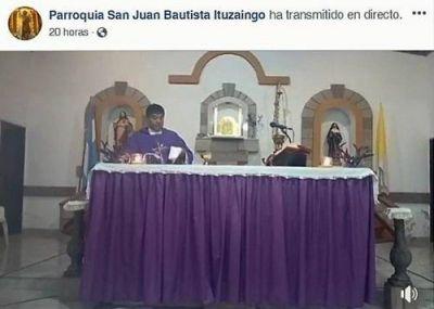 Instan a seguir las misas por las redes sociales