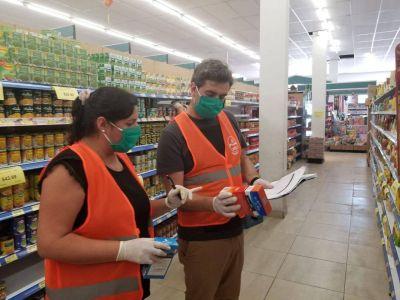 Realizaron controles de precios en supermercados de la ciudad