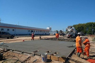 Avanza la obra del Hospital de emergencia en Varela: tendrá 25 camas de terapia intensiva