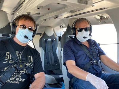Suarez controló en helicóptero el cumplimiento del aislamiento