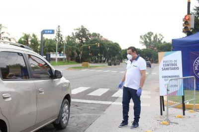 Cáffaro recorrió el futuro centro de aislamiento y puntos de acceso a la ciudad