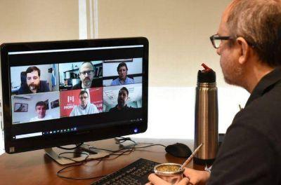 Intendentes de la región coordinaron operativos de control por videoconferencia