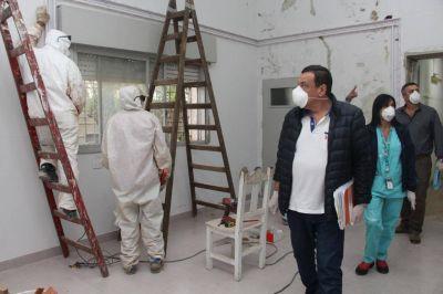 El intendente Cáffaro recorrió el futuro centro de aislamiento y puntos de acceso a Zárate