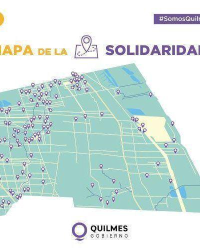 Quilmes puso en funcionamiento 110 Puntos Solidarios para distribuir ayuda social