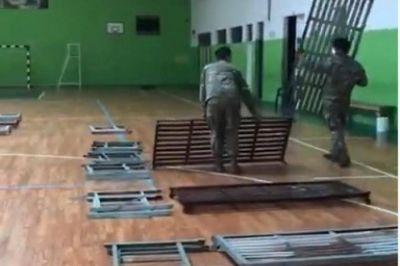 Levantan un hospital de campaña en Los Hornos con 60 camas