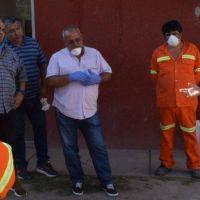 Fuentes agradeció labor que desarrollan empleados que realizan recolección de residuos domiciliarios