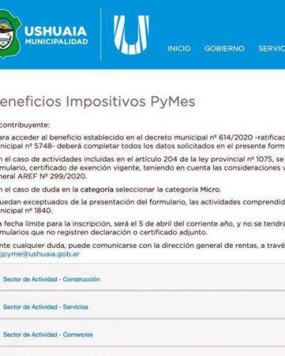 Beneficios a Pymes de Ushuaia